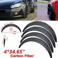 88cm/34.65 4Pcs Universal Flexible Car Body FOR Fender Flares Extension Wide Wheel Arches Car Mudguards for SUVs Car