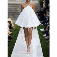 Summer Solid Elegant Women Dress Halter Sleeveless Backless Oversized Pleated Mini Dresses Vestidos Female 2019 New