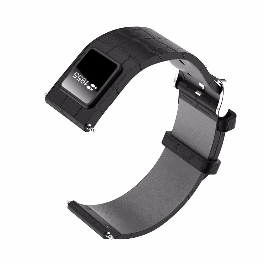 20mm 22mm Watch Band Bluetooth 4.0 Smart Band Wristband 0.42 OLED Display Leather Watchband Straps For IOS Android h1 20mm 22mm watch band with smart band wristband function leather watchband straps stainless steel silver buckle smartband