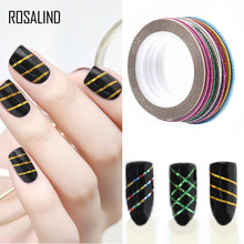 ROSALIND 10 Colors Matte Color Rolls 1mm Striping Tape Line Rough Styles Nail Art Tips Decals Beauty Rhinestones Nail Decoration(China)