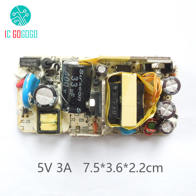 US $2 77 12% OFF|3000MA AC DC 5V 3A Switching Power Supply Bare Circuit  Board DC Voltage Regulator Module 100 240V 50/60HZ 5V3A SMPS-in Replacement