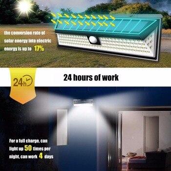 26/90/79/118 Led 1000lm à Prova Dwaterproof água Pir Sensor De Movimento Solar Jardim Luz Ao Ar Livre Lâmpada Solar Segurança Piscina Porta Iluminação Solar