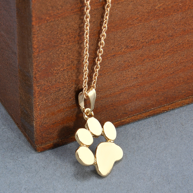 Fashion Cute Pets Dogs Footprints Paw Chain Pendant Necklace Necklaces & Pendants Jewelry for Women Sweater necklace 4