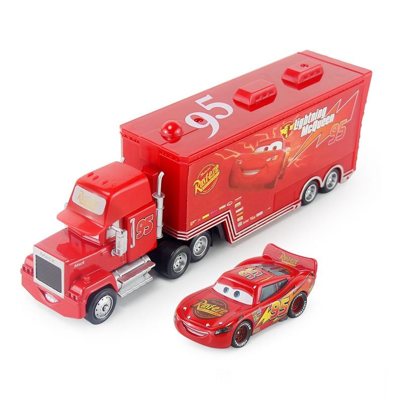 Дисней Pixar Тачки 2 3 игрушки Молния Маккуин Джексон шторм мак грузовик 1:55 литая модель автомобиля игрушка детский подарок на день рождения - Цвет: Two cars I