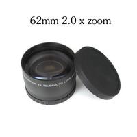 62mm 2.0X Super Macro Wide Angle Fisheye Macro photography Lens for Canon NIKON Sony PENTAX DSLR DV 18 200 Camera thread lens