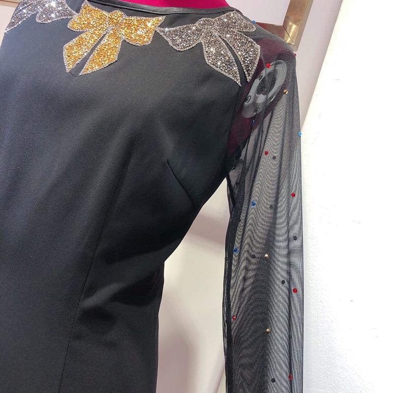 As Luxe 2019 Manches Automne cou Printemps O Longues Évider De Designer  Marque À Robe Pic Sexy Femmes EFxgqZ 2a8bf6e9f1d