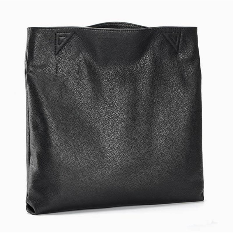 100 % 정품 가죽 캐주얼 토트 대용량 가죽 여성용 - 핸드백 - 사진 2