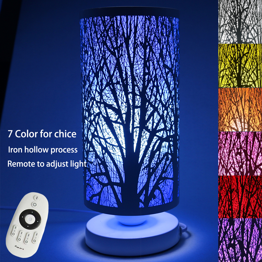 Aliexpress buy modern ivory iron wrought tree table lamp aliexpress buy modern ivory iron wrought tree table lamp remote control e27 110v 220v led bedroom night light christmas home decorative lights from aloadofball Image collections