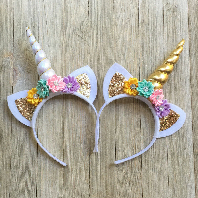 Unicorn Horn Head Kid Headband Fancy Dress Cosplay Party  Headwear