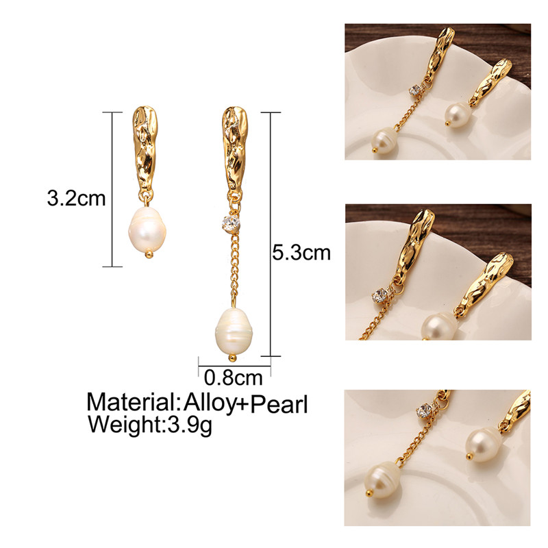 Pearl earrings | Golden earrings | Suitable for women