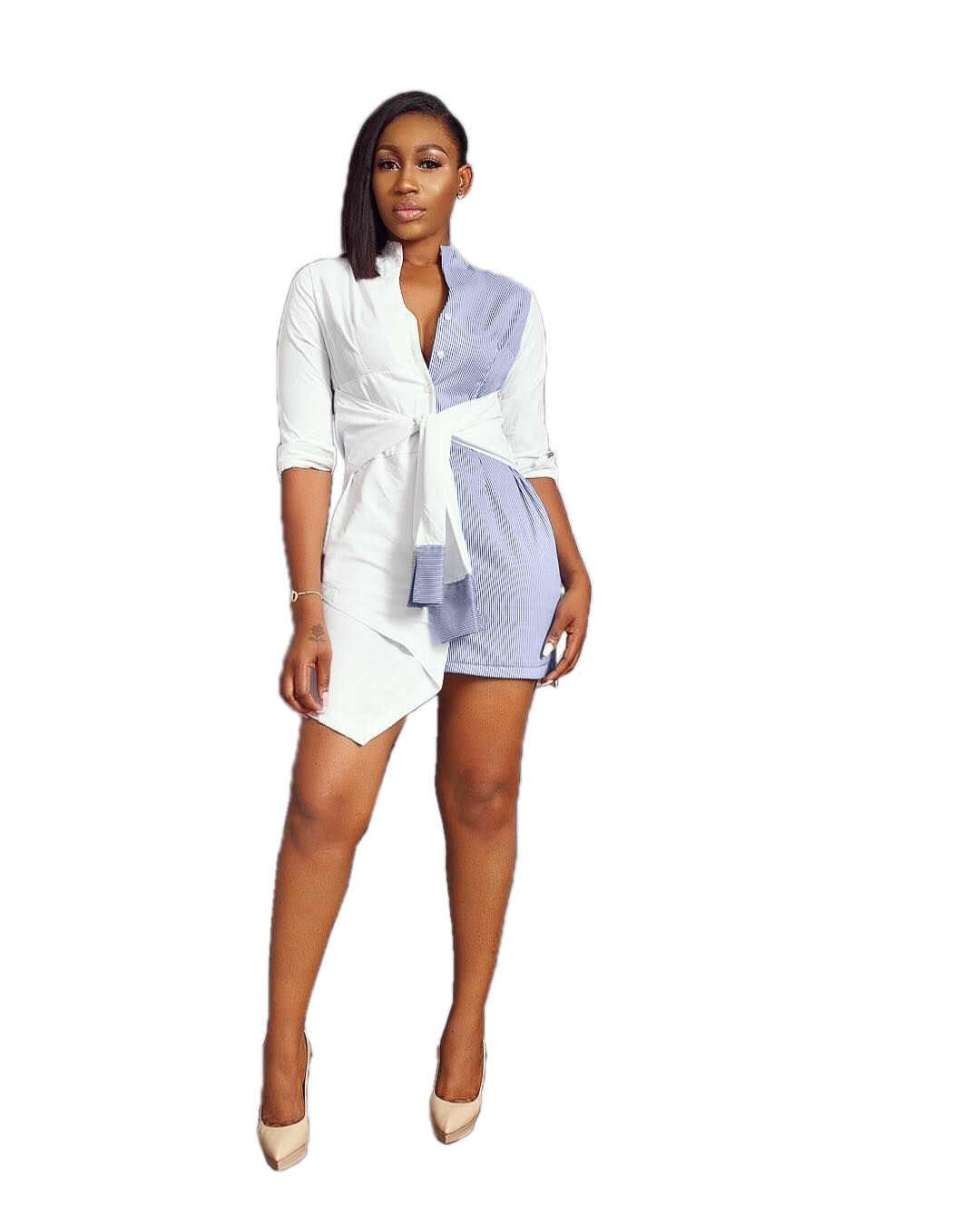 Африканская женская сексуальная модная Лоскутная Асимметричная блузка с принтом платье