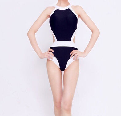 New Arrival White One Piece Backless Swimwear Sexy Bandage high cut one piece swimsuit Women Bathing suits Tank Wear Monokini