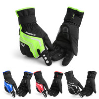 INBIKE 2017 Winter Cycling Gloves Gel Padded Thermal Full Finger Bike Bicycle Gloves Touch Screen Windproof