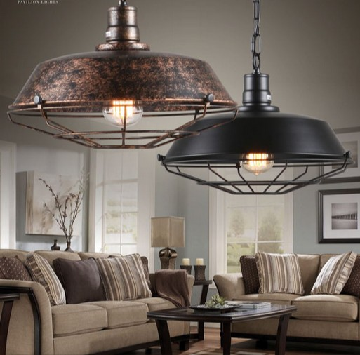 industrial loft antique lamp edison bulb vintage pendant light fixtures metal hanging droplight for dining room