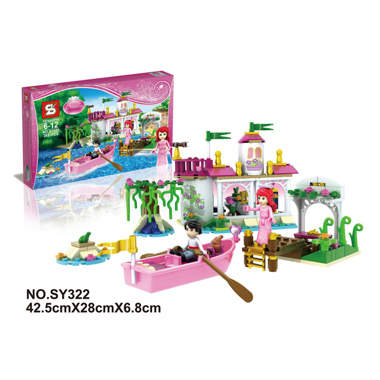 High quality Anna and Elsa castle block New Band little Toys Movable Cartoon Dolls & Accessories poni for Birthday Gift lepin dolls and accessories