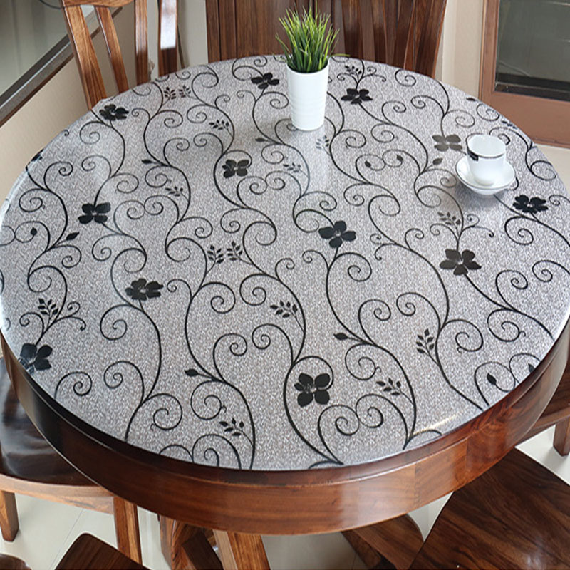 Aliexpress Com Buy Balle Pvc Table Cover Round Desk Pad