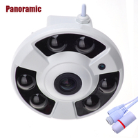 Panoramic IP Camera 720P 960P 1080P Optional Wide Angle FishEye 5MP 1.7MM Lens Camera CCTV Indoor ONVIF 6 ARRAY IR LED