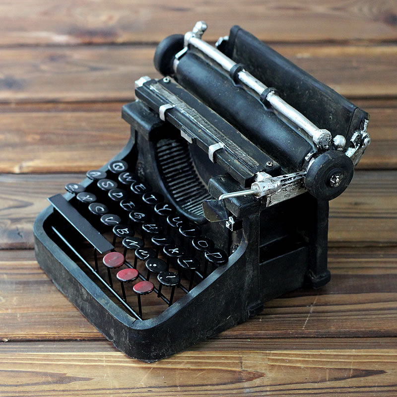 Vintage Retro Typewriter Camera Photography Props Resin Gifts Craft Ornaments Bar Coffee Home Decoration 0562