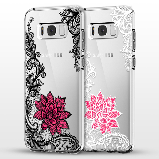 Dentelle Florale Mandala Fleur Pour Samsung Galaxy S5 S6 S7 Bord S8