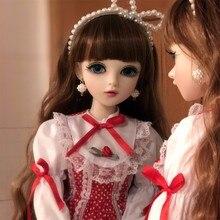 BJD 1/3 куклы для девочек с одеждой парики обувь, подвижное тело, сменные коричневые глаза, силиконовые ручной работы BJD кукла полный комплект