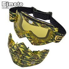 ATV Motorbike Cycling Detachable Motocross Modular Goggles Eyewear Motorcycle Glasses Dust Mask Gafas