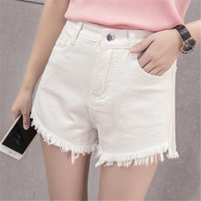 Female students high waisted denim shorts casual pants  WP46