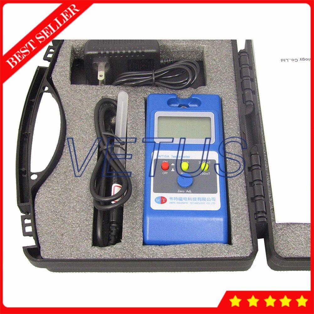 WT10A Surface Magnetic Field Tester Gaussmeter Measuring Instrument 0~2000mT with Portable Handheld Digital Gauss Tesla Meter цена
