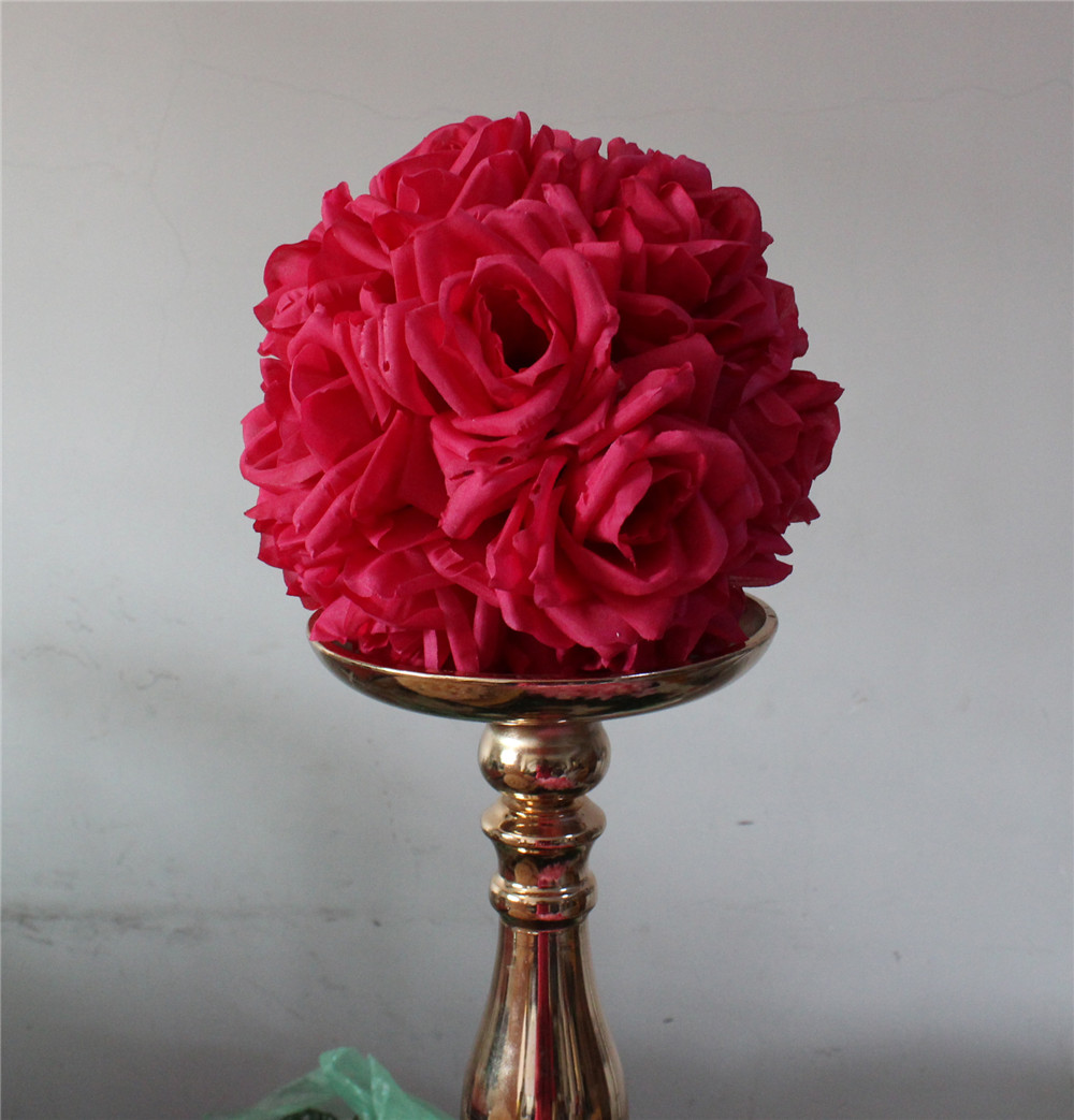 Compare prices on fuschia bouquet online shoppingbuy low price 15cm10pcslot plumfuschia hanging flower ball centerpieces silk rose wedding kissing dhlflorist Gallery