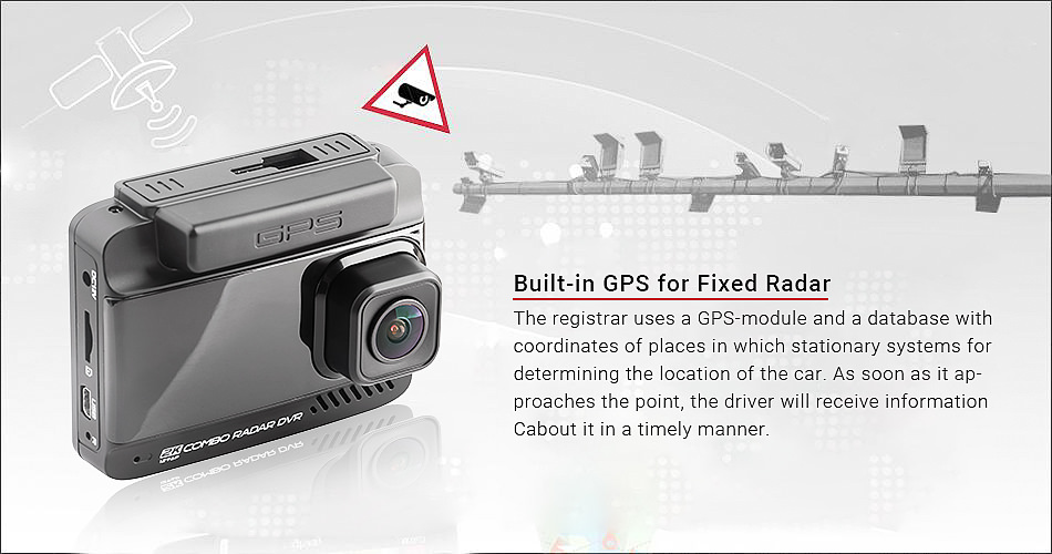 Ruccess Car DVRs 3 in 1 Radar Detector Dual Lens Full Hd 1080P Car Dvr 1296P Car Camera GPS Video Recorder Anti Radar Dash cam3
