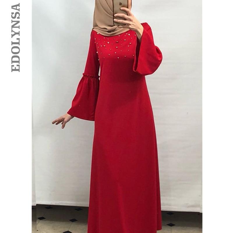 7d98dda3502 Modern Pakistan Women Clothing Plus Size Saudis Abaya Moroccan Caftans Turkish  Islamic Clothing Pearls Muslim Dress Kaftan D701