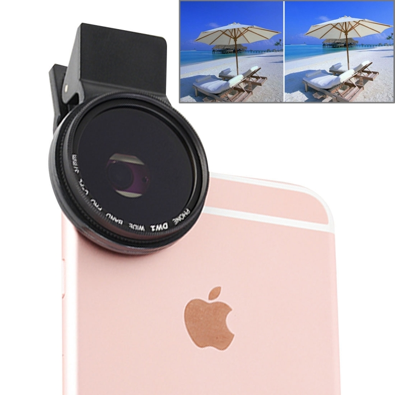 Universal Clip Polarizer 37mm 2.0X CPL Filter Mobile Phone Lens Polariscope for iPhone 7 P