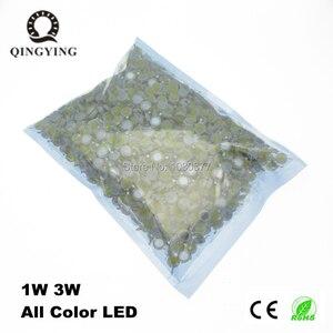 Image 1 - 500 pces de alta potência 1 w 3 w led chips lâmpada smd branco quente fresco vermelho azul amarelo verde led spotlight epistar cob chip de diodo