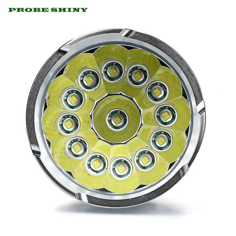 HOT!!! 13 x XM-L T6 LED Flashlight Torch 4x 18650 Hunting Light Lamp Free Shipping #NN01