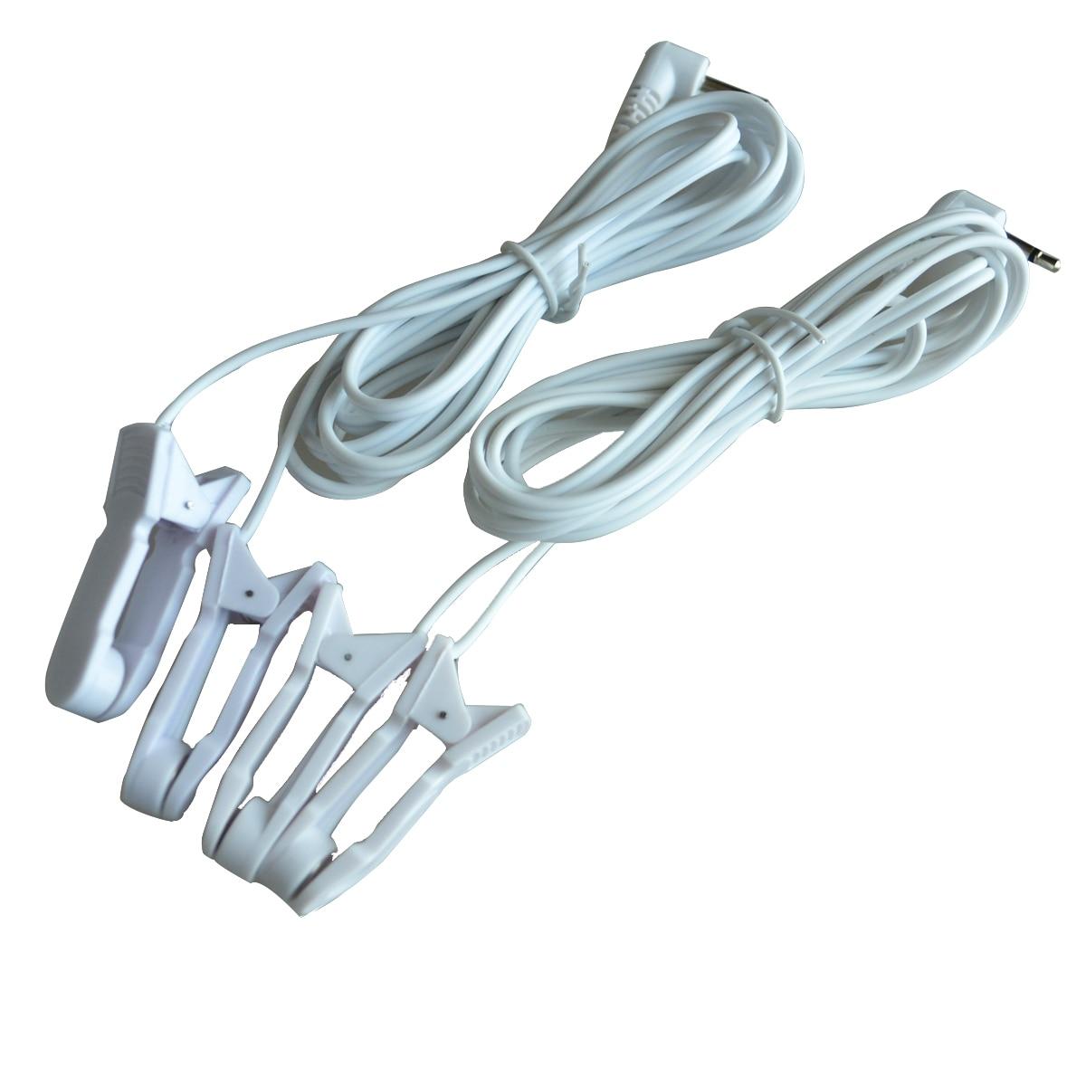 Оптовая продажа 100 шт./упак. груди и ухо клип электрод проводов Джек DC 2,5/3,5 мм Замена Кабели для десятки