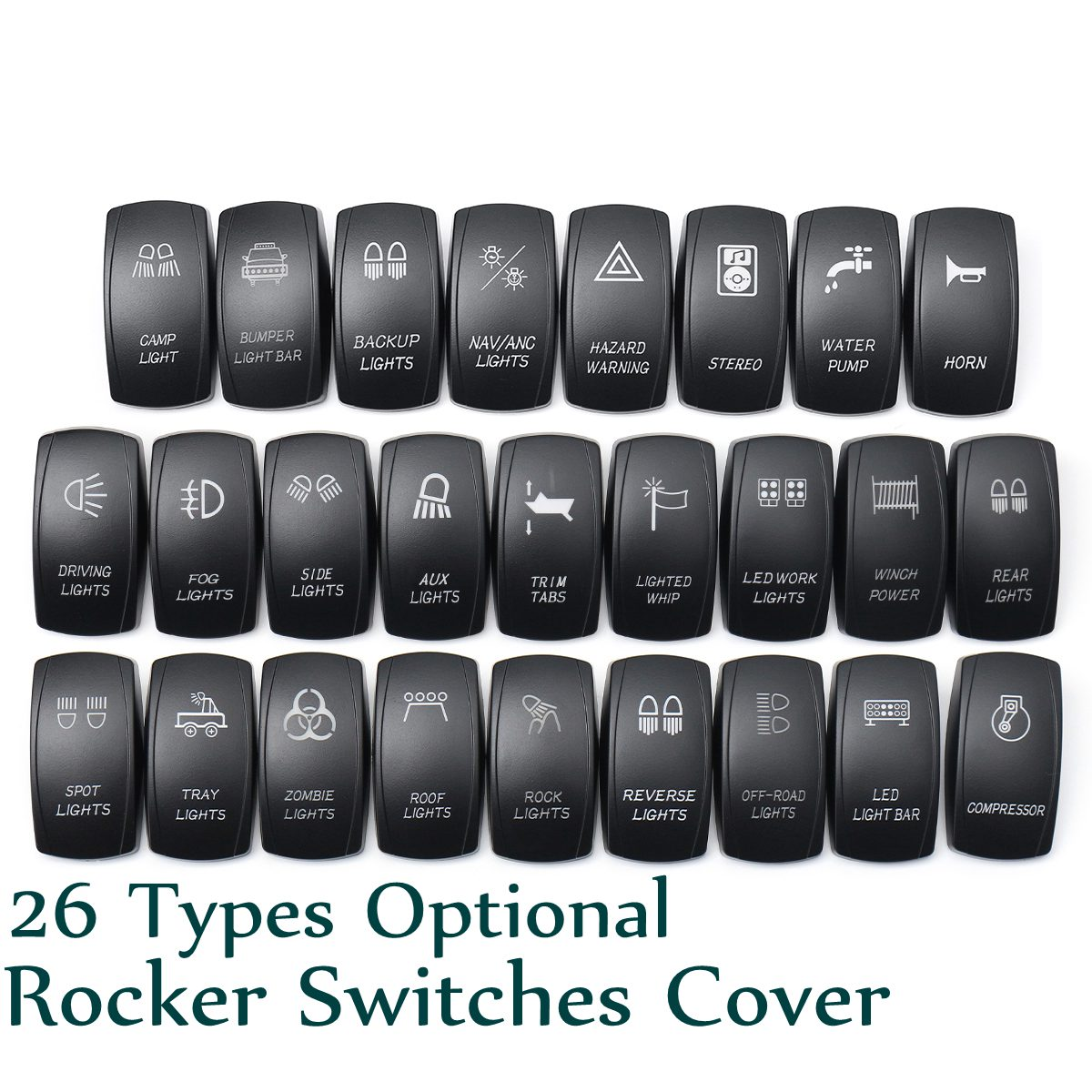 Boat Car Truck Carling Rocker Switches Cover Cap Laser