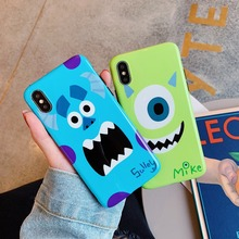 Cute Cartoon Monsters University Mike Sulley Soft IMD Case For iPhone XS XR MAX X 6 6S 7 8 Plus