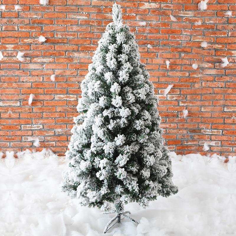 240 CM noël artificiel faux arbre blanc cèdre flocon de neige arbres neige flocage arbre nouvel an décorations pour maison vacances Mall
