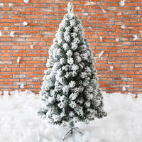 240CM Christmas Artificial Fake Tree White Cedar Snowflake Trees Snow Flocking Tree New Year Decorations For Home Holiday Mall