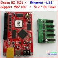 onbon bx-5Q1, 5Q0,ethernet, rj45 port, control size 512*80,support HUB75, async full color led display controller