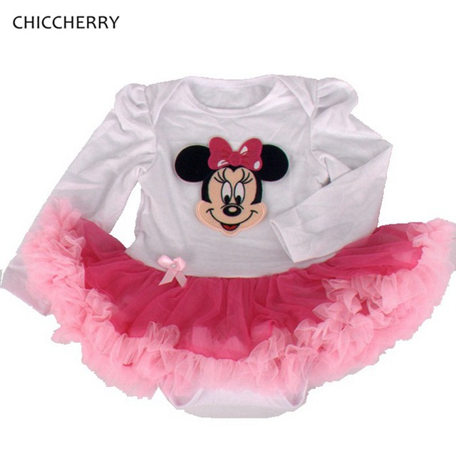 Pink Minine 1st Birthday Dress for Baby Girl Classic Bowtie Infant Lace Romper Dresses Velement Bebe Newborn Baby Girls Clothes
