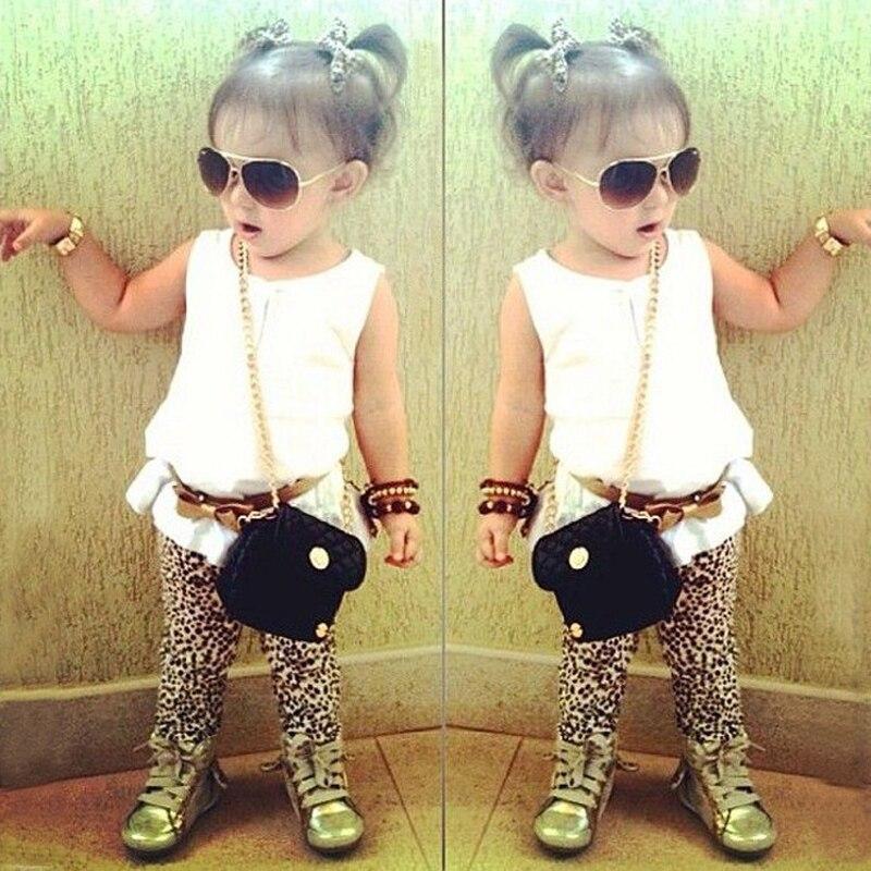 4114de27d9fe Fashion Summer Baby girl clothing sets O neck sleeveless Tshirt + ...