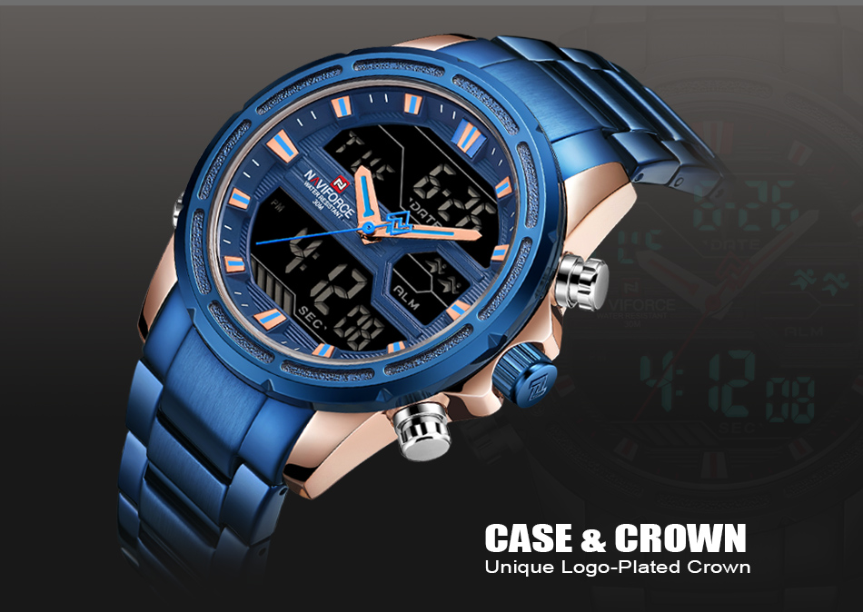 Top Luxury Brand NAVIFORCE Men Watches Military Waterproof LED Digital Sport Men's Clock Male Wrist Watch relogio masculino 6