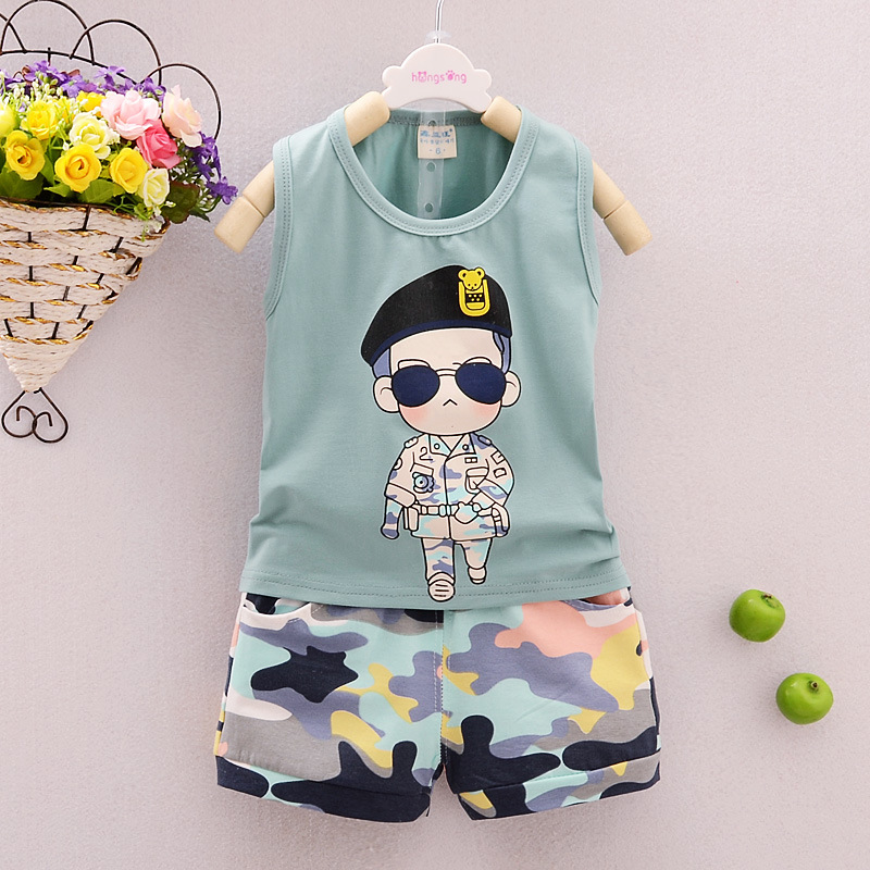 The Boy Child Song Joong Ki Cotton Vest Shorts Set Baby 9 Months