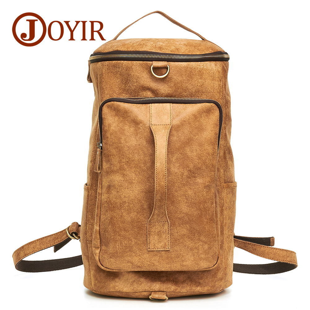 JOYIR Genuine Leather Backpack Male Huge Travel Bag Large Capacity Men Backpack Multifunctional Laptop Backpacks Masculina 6357 men backpack student school bag for teenager boys large capacity trip backpacks laptop backpack for 15 inches mochila masculina