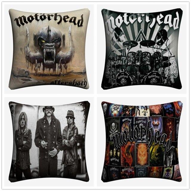 Motorhead Rock N Roll Band Decorative Cotton Linen Cushion Cover 45x45cm Pillow Case For Sofa Chair Home Decor Almofada