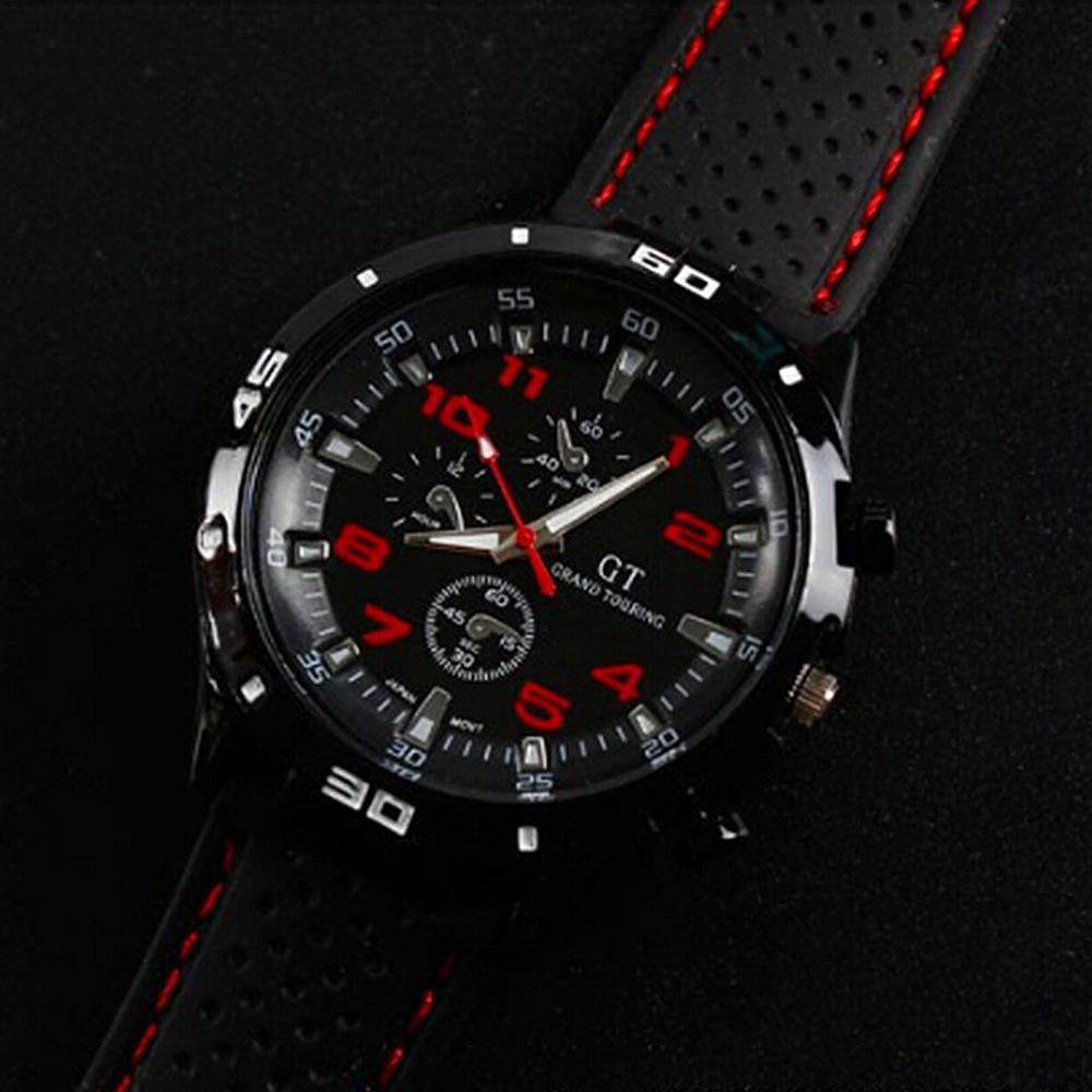 aliexpress com buy grand touring cool men s racing watch red aliexpress com buy grand touring cool men s racing watch red black dial silicone sport watches wrist watch gift shipping from reliable gift printer
