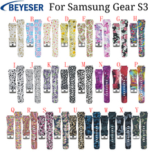 For samsung Gear S3 Frontier WatchBand 22mm Silicone Watch Replacement Bracelet Strap for Samsung Gear S3 Classic Watch bands v moro new genuine leather watch bands gear s3 replacement bracelet for samsung gear s3 classic frontier smart watch