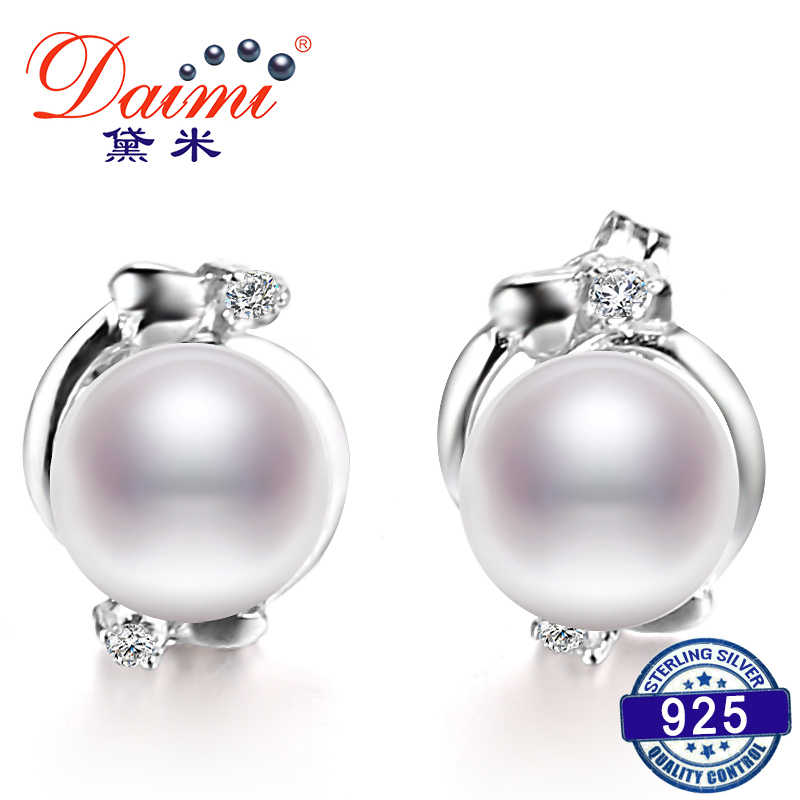 2019 Sale Pearl Ethnic Earrings Real 7-8 mm / 8-9 mm White Pearl Earrings Flower Earring For Female Birthday Gift
