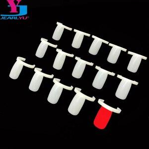 50 Pcs Tips Fake Nail Ring Board Practice Ring Natural Full Cover False Nails Nail Polish Color Display Sample Nail Art Tools