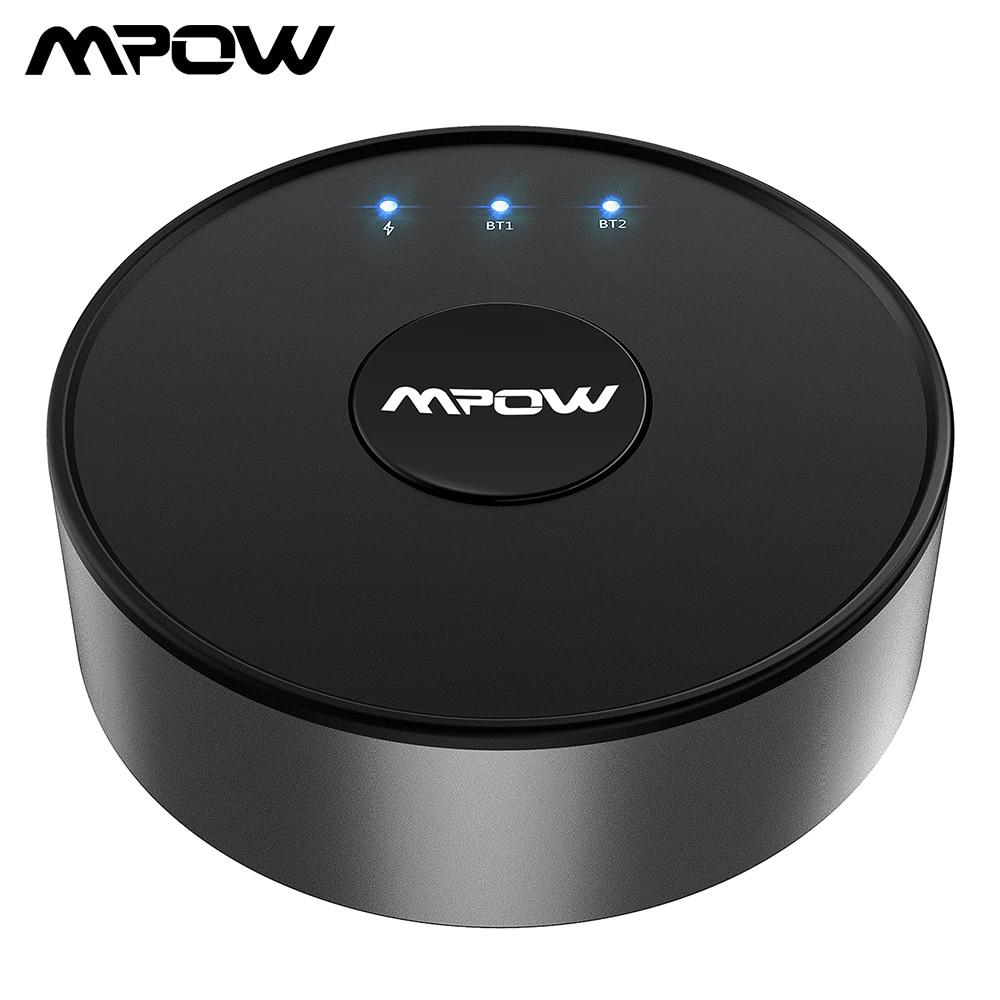 Mpow BH261 Émetteur Bluetooth aptX FAIBLE LATENCE Optique 3.5mm Bluetooth 5.0 Sans Fil Audio Adaptateur Pour Casque Haut-parleurs TV